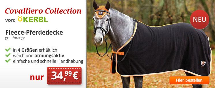 NEU: Fleece Pferdedecke Covalliero von Kerbl. Jetzt für nur 34,99 €!